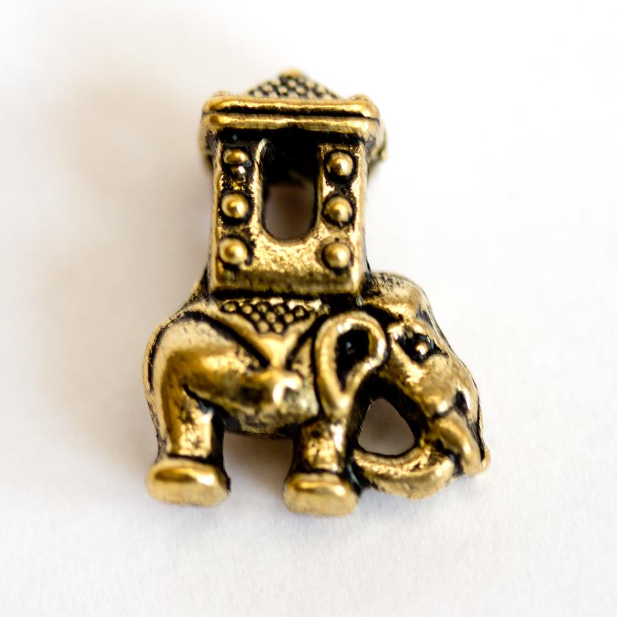 Kovova koralka slon s pagodou na naramky v štyle Pandora