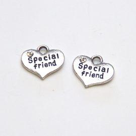 kovove-srdiecko-s kristalmi-Special- friend