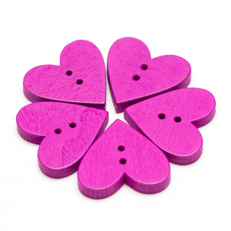 drevene-gombiky-srdce-fialove