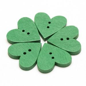 drevene-gombiky-srdce-zelene
