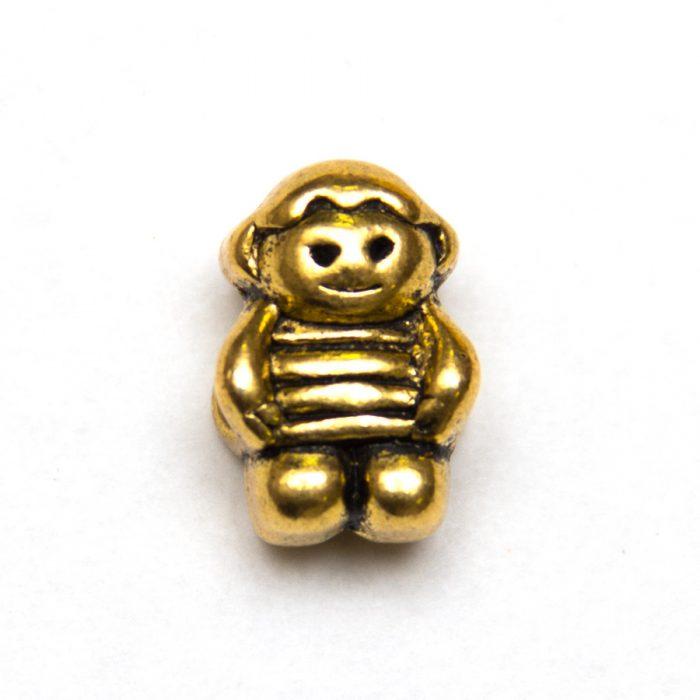 Kovová korálka zlatý chlapček - BeYou.sk - Bižutérne komponenty ... 76aa1531115