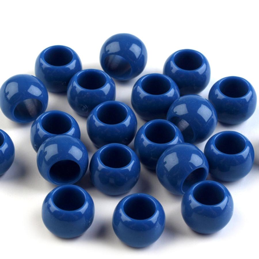 Plastove-koraliky- s veľkym- prievlakom 7x 10-modre