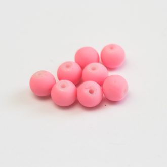 koralky-plastove-pogumovane-8mm-pink