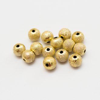 kovove-koralky-s-matnym-povrchom-zlate-8mm