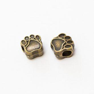 kovova-koralka-labka-bronz