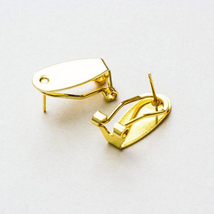 7008ea68c Náušnicový základ klipsa 8,5 x 18,5 mm farba zlatá - Bižutérne ...