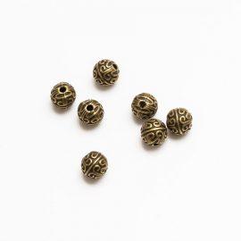 kovova-koralka-zdobena-bronz-6mm