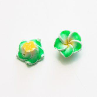 fimo-kvet-zeleny-12mm