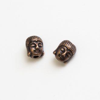 kovova-koralka-hlava-buddha-medena