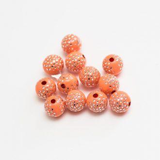 plastove-koralky-bodkovane-8mm-orange