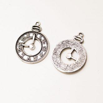 kovový privesok-hodinky-25x32mm