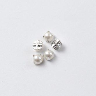 gombily-perleť-kovovy-zaklad-6mm